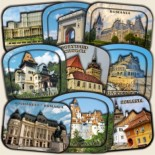 Romania: Magnetic and Tourist Souvenirs